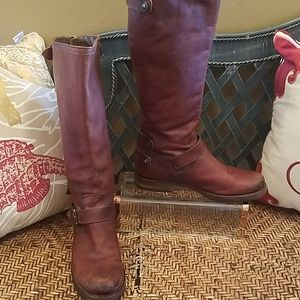 Frye Veronica back zip boot